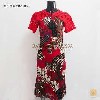 🚚 Batik Lace Mermaid in Red