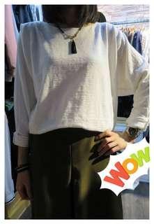 韓國製白色靚cutting上衣