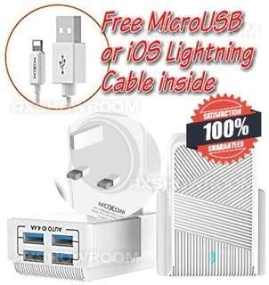 4USB ports 3 pin Intelligent charger and Cable set