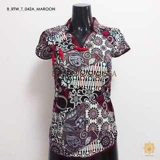 Batik Mandarin collar blouse