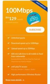Unifi 100Mbps UNLIMITED DATA