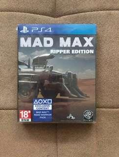 Game ps 4 MAD MAX (ripper edition)