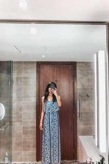 H&M long slit dress