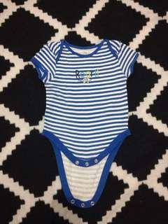 Early Days Blue Striped Onesie