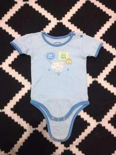Cotton Stuff Baby Blue Onesie