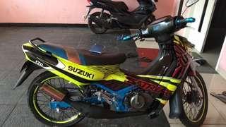 Satria ru 120 4000, cc 6 speed th 02,stnk bpkb. Rp nego2,tt,bt dgn yg stara.