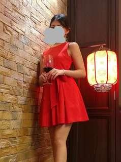 Red Playsuit Dress
