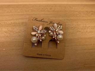 韓式夾耳環
