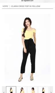 MGP clara criss top in yellow