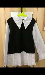 Korean style sweater/school uniform