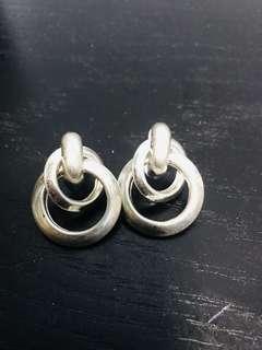 韓貨銀色耳環