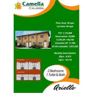 Affordable 2BR Townhouse House & Lot in Camella Calamba Complete Amenities - Preselling Project in Laguna