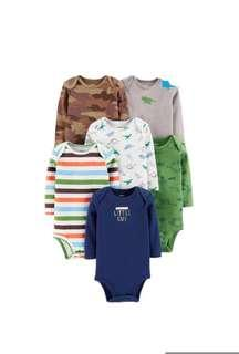 Carter's Long Sleeves Cotton Bodysuits