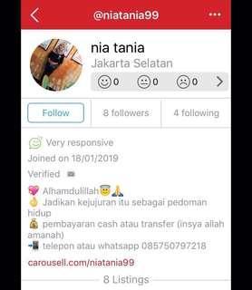 PENIPUAN!! Akun ini penipu @niatania99