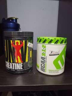 Creatine and bcca from Universal and muscle pharm