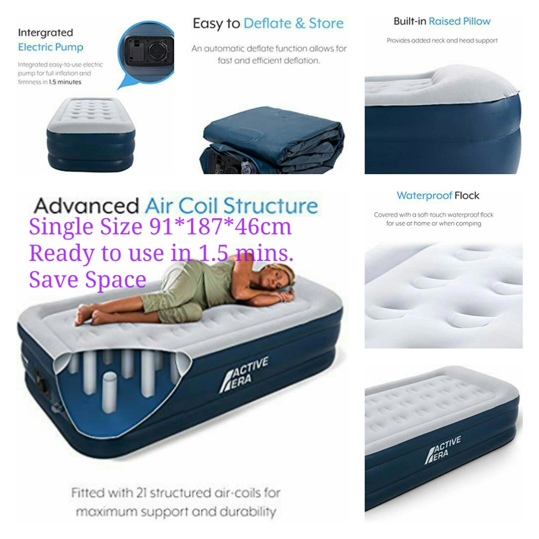 b7cddd8d3e0 Active Era Luxury Single Size Air Mattress - Elevated Inflatable Air ...