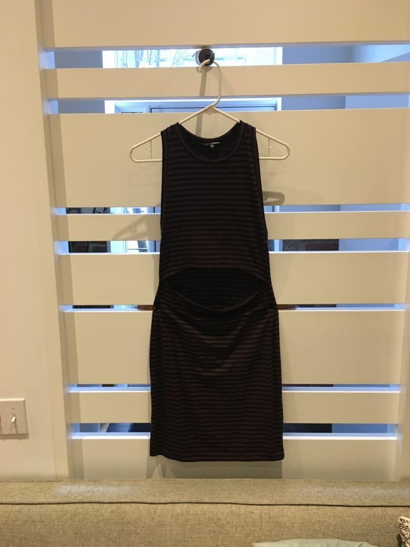 Aritzia striped dress with stomach cutout (size s/m)