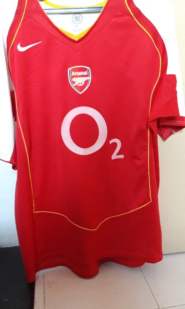 best service b135b 7a8e9 Arsenal 2004 jersey Viera 4 XL home kit vintage