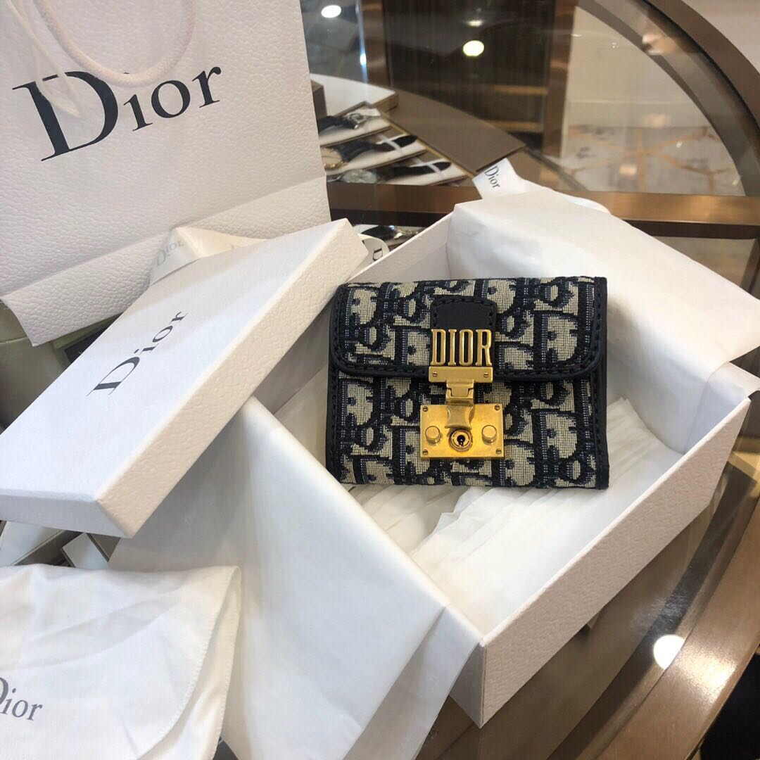 Authentic Brand New Dior Oblique Compact Wallet 5025693075