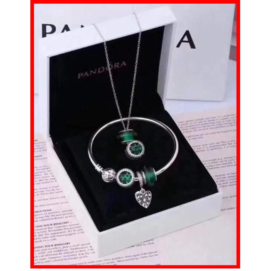 Authentic Pandora Bracelet Set and Necklace Set Jewelry Set 925 Sterling  Silver Complete Inclusions with Box 1-2 Days Shipping Only with Tracking ...