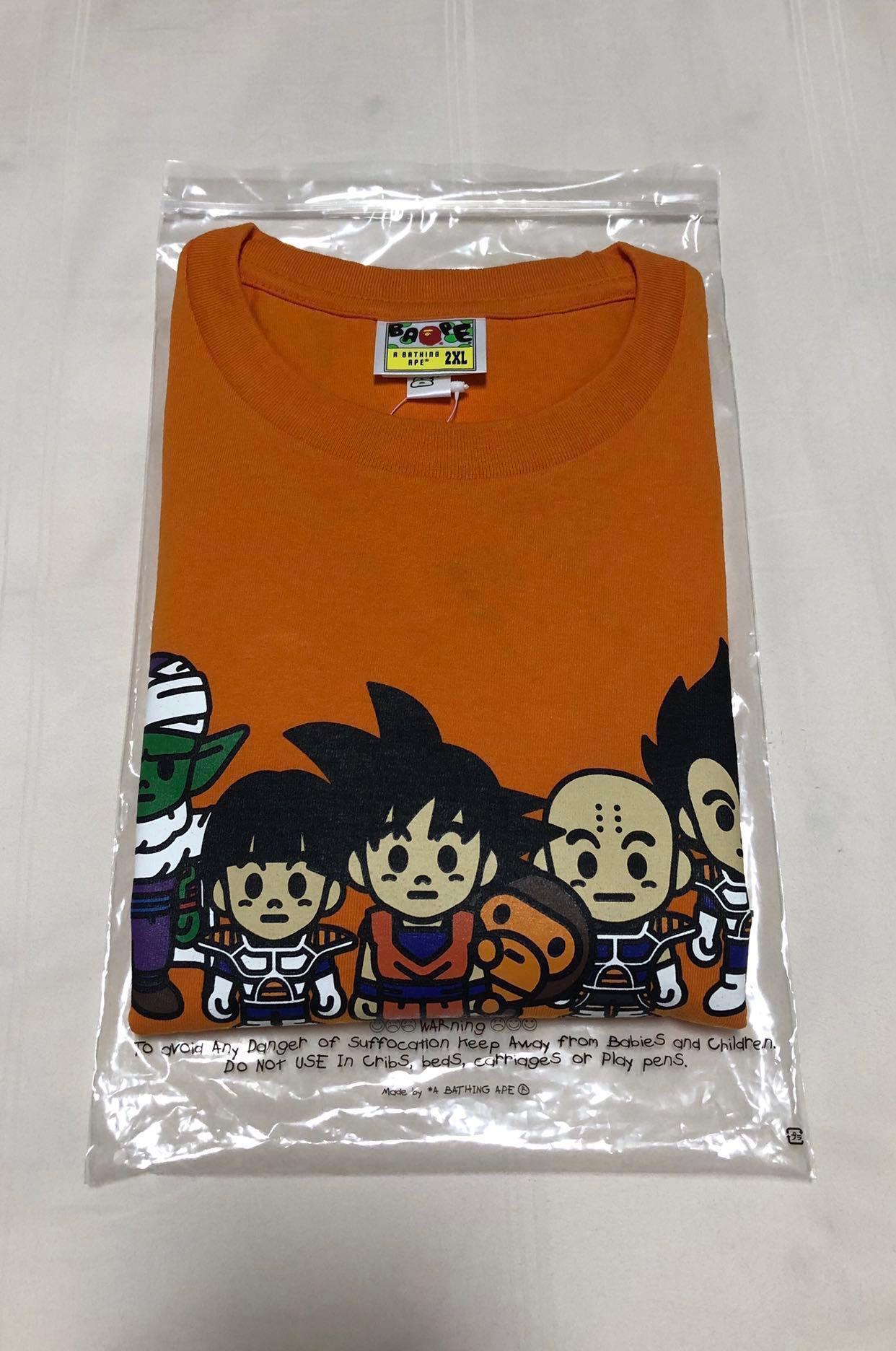 fc724528 BAPE X Dragon Ball Z Tee #6 Orange 2XL, Men's Fashion, Clothes, Tops ...
