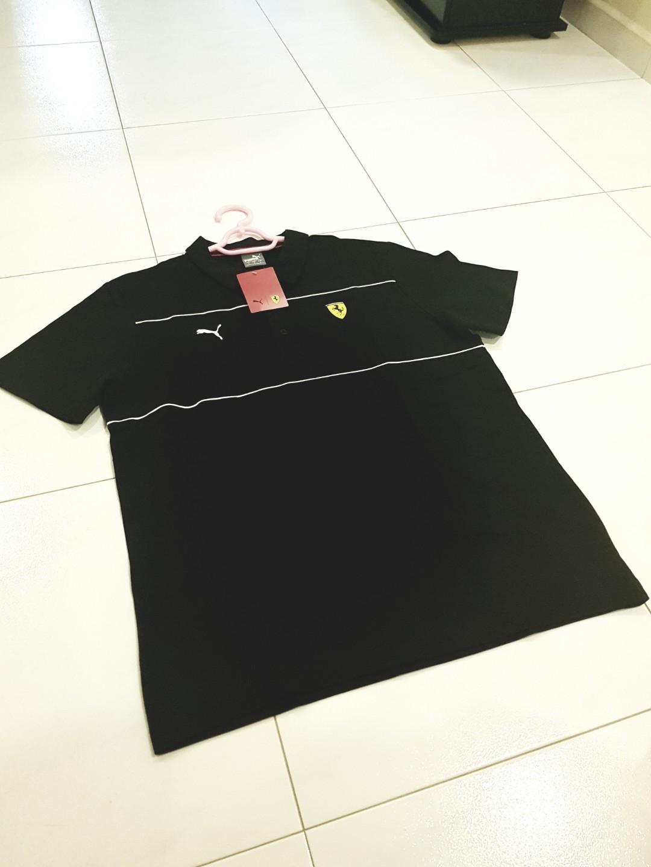 d203a2b81e6 Brand new bnwt Puma black polo tee, Men's Fashion, Clothes, Tops on ...