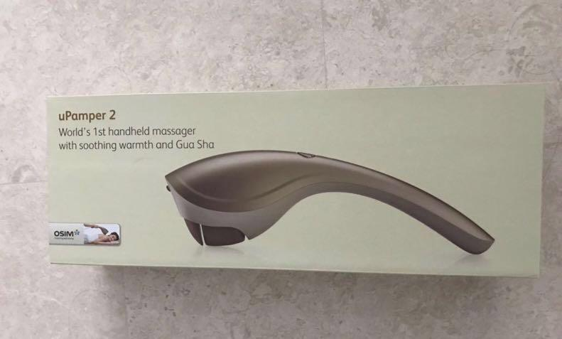 Brand new Osim uPamper 2 Portable Massager with Soothing Warmth and Gua sha for Detoxification of Body and Deep Tissue Relief. Original price $298