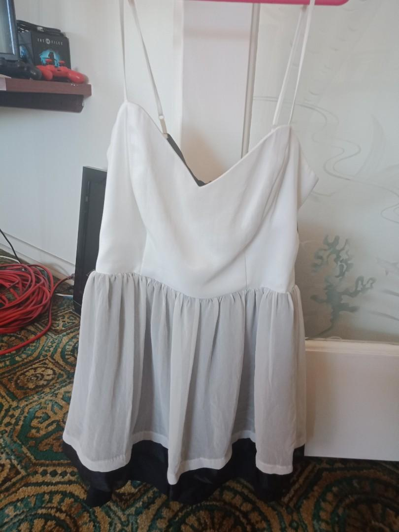 Cooper St size 12 white and black overlay strappy dress