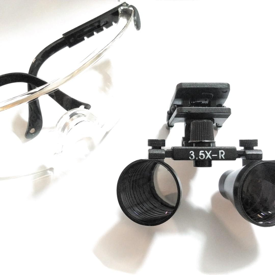 Detachable magnifying loupe with safety goggles, Design
