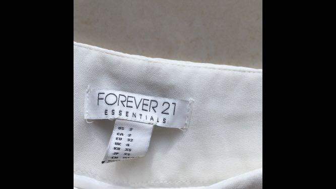 Forever 21, cream gathered waist and tapered leg trousers