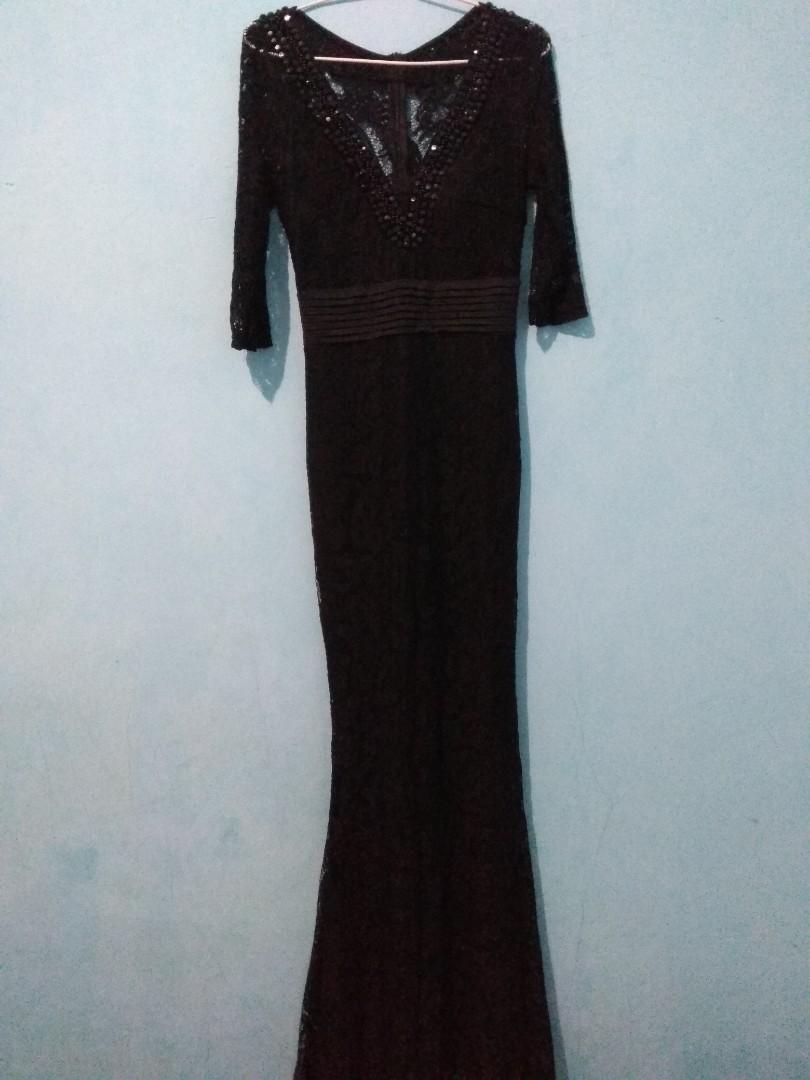 Gaun Malam Gaun Pesta Night Dress Warna Hitam Women S Fashion