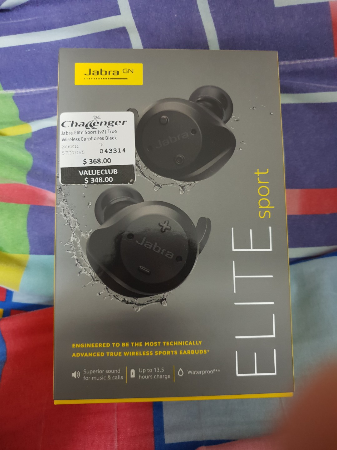 27d9ccea31b Jabra Elite Sport V2 Black, Electronics, Audio on Carousell
