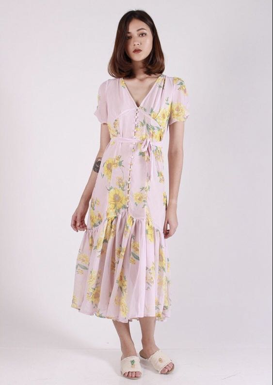 fd46bc57dc3ba Kissablebella Tara Sakura Maxi Dress Pink, Women's Fashion, Clothes ...