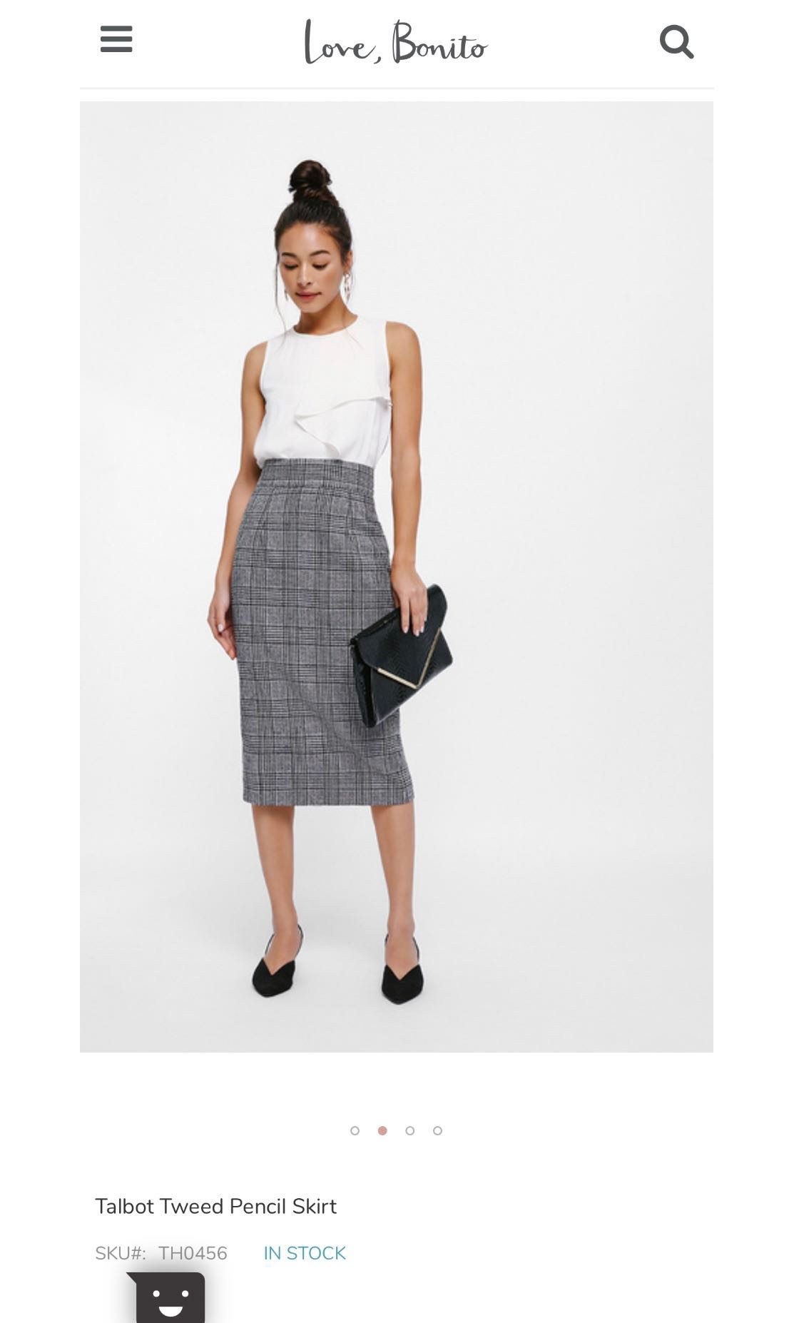 7a9a4c254e Love Bonito Talbot Tweed Pencil Skirt, Women's Fashion, Clothes ...