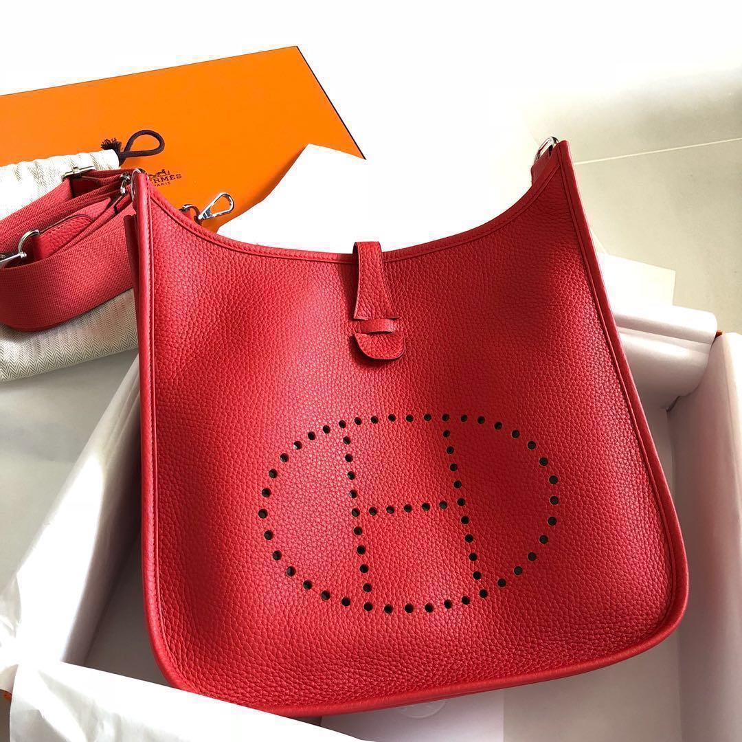 New Hermes Evelyne III PM Rouge Tomato a1c03a0e9