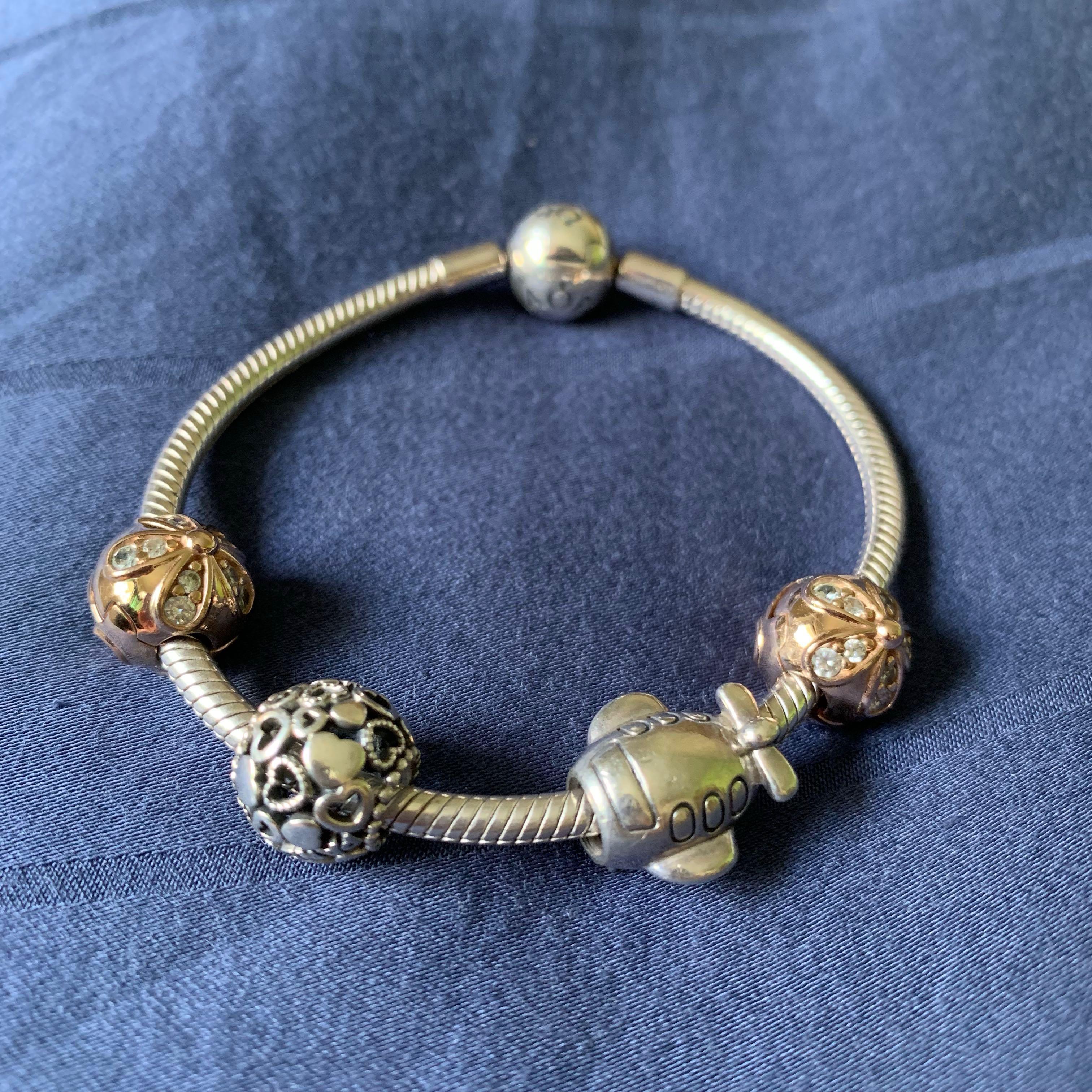 1ab6ebdbd Pandora rose gold bracelet set, Women's Fashion, Jewellery ...