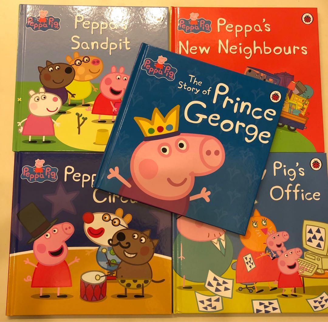 peppa pig 5本一套繪本故事書(➕送2本中文故事書)