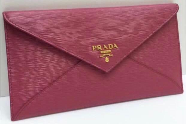 2ad3c53c0fc4 Prada 1MF175 Vitello Move Leather Envelope Wallet with Flap- Ibisco ...