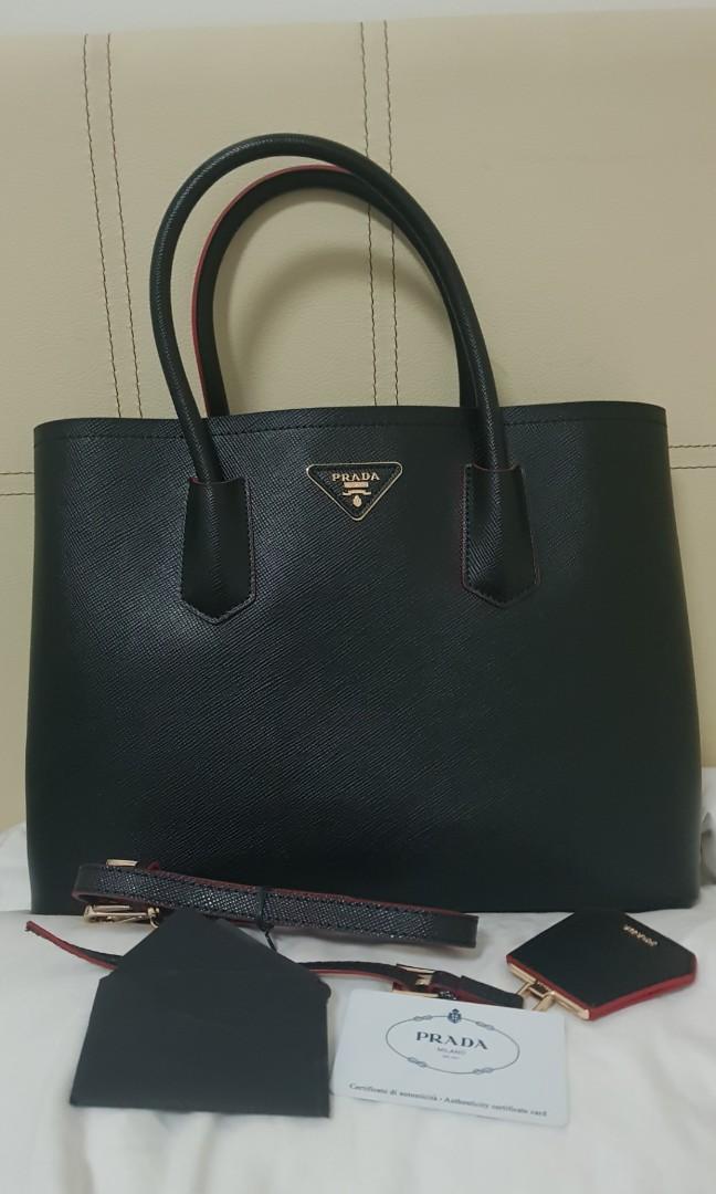 ba67bf4182 Prada Saffiano double bag