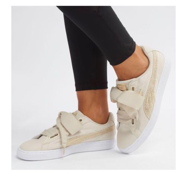 Heart Basket Cream Puma Canvas In ED2W9HI