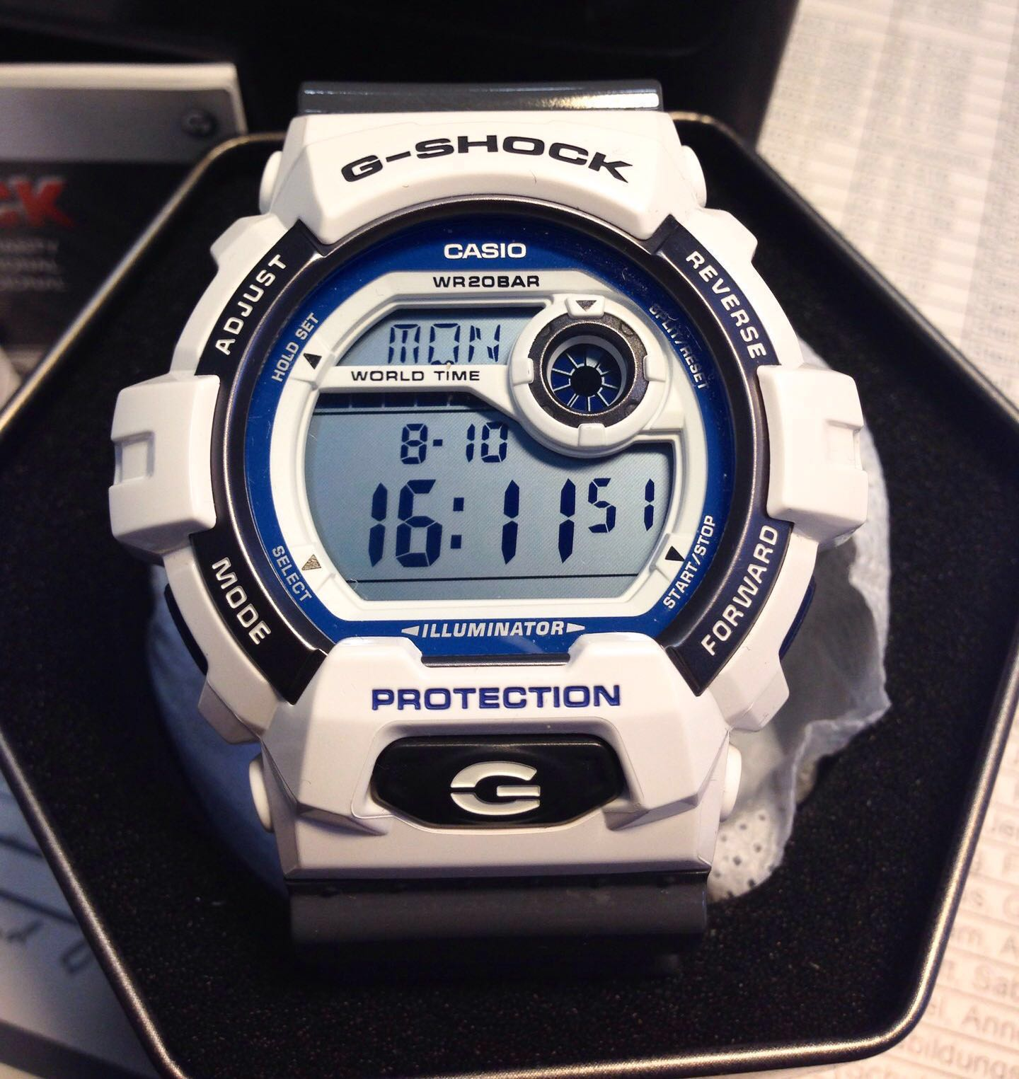 fe469533d5429 SUPER🌟RARE🌟SEEN in GSHOCK DIVER SPORTS WATCH   1-YEAR OFFICIAL ...