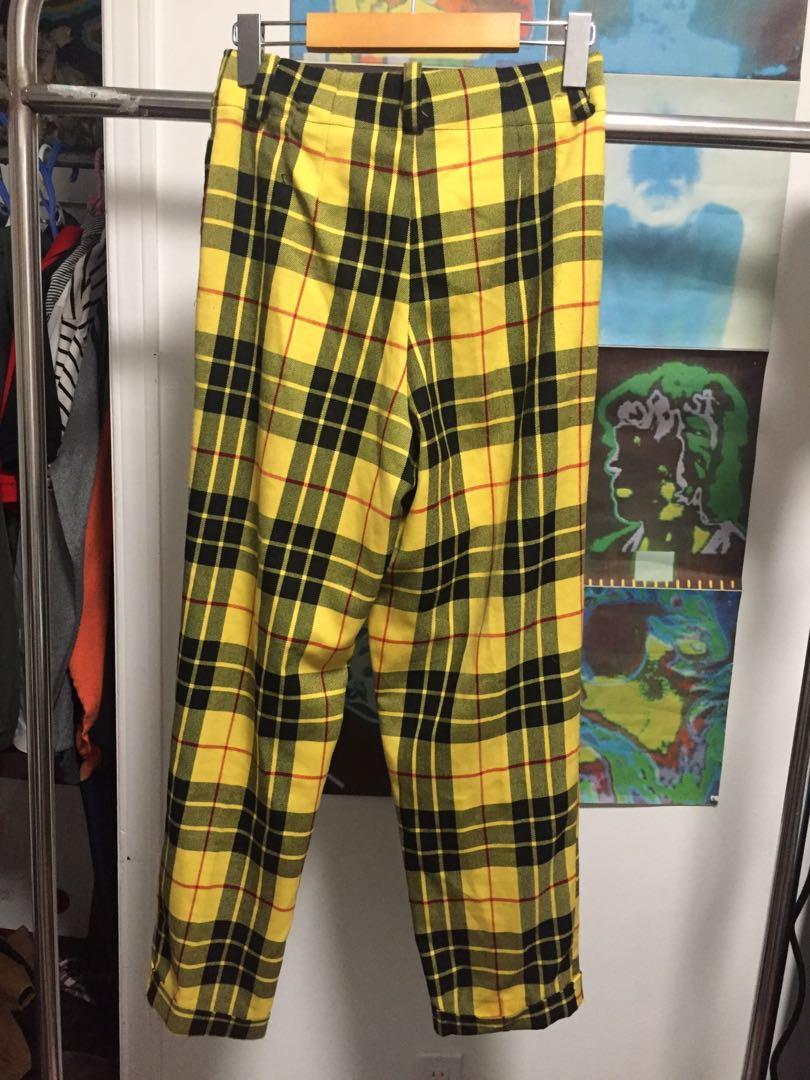 Topshop 90's plaid pants - US 4