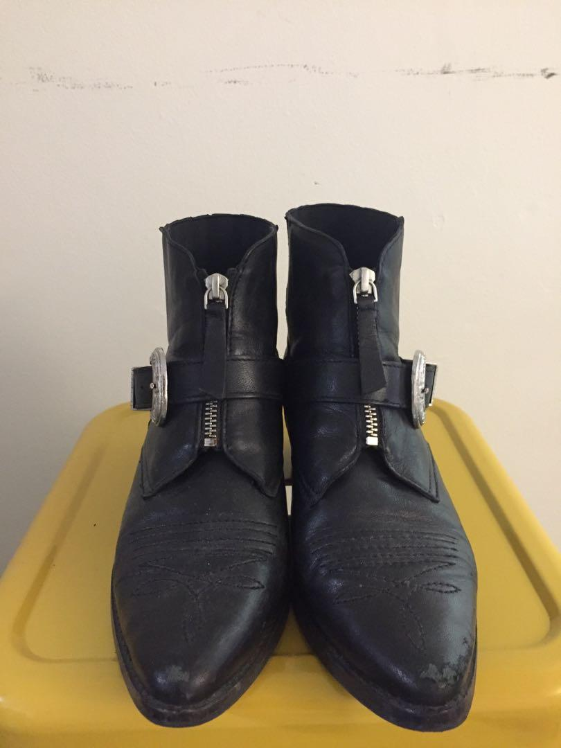 Topshop western ankle boots with zippers - US 7.5 UK 38