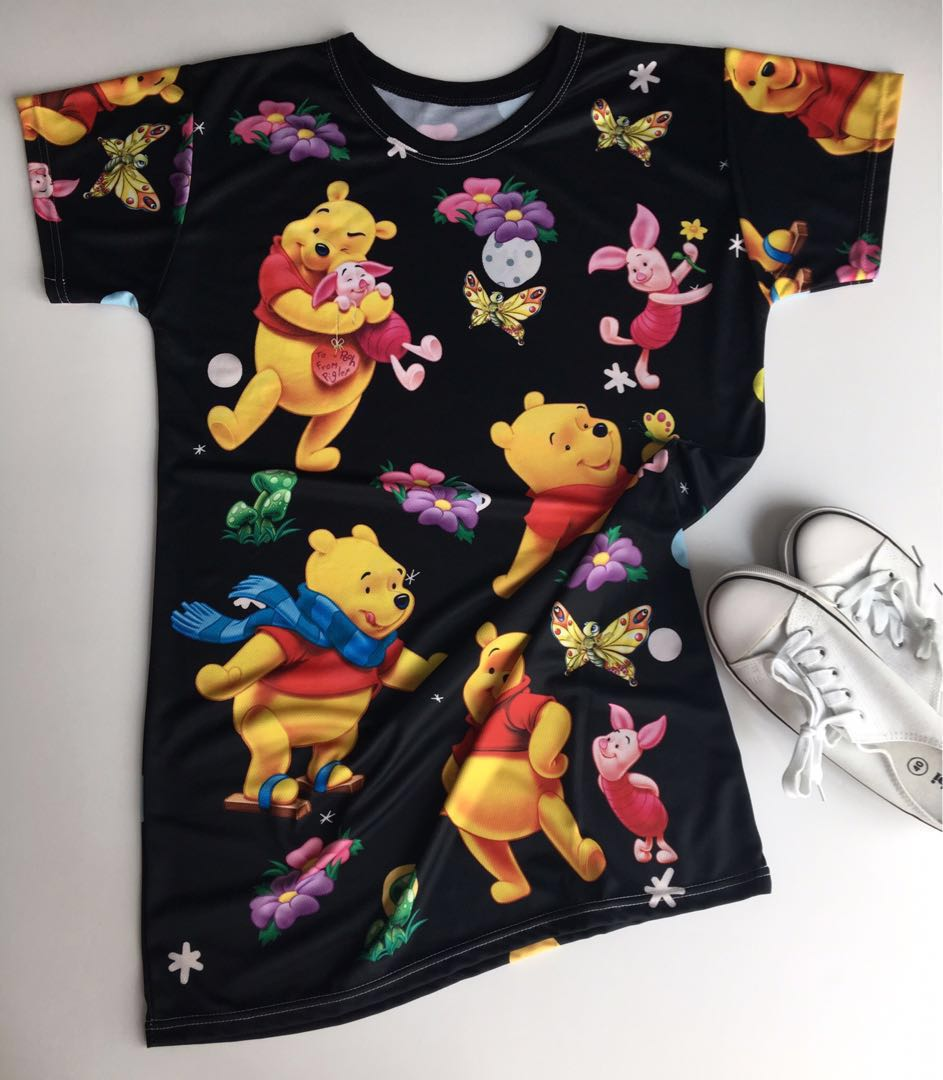 232a6037f16e Ulzzang Winnie The Pooh Tshirt Black dress ladies sz XL NEW WITHOUT ...