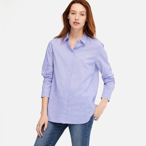 Uniqlo Long Sleeve Button Up Blouse (Cotton)