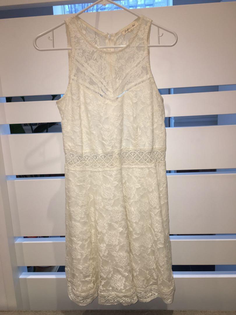 Women's white lace dress size s
