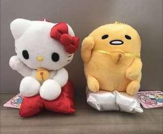 Hello Kitty & Gudetama Fortune Cat