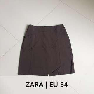 #JAN25 ZARA Rok Kerja Mini Coklat Gelap | Mini Skirt Dark Brown