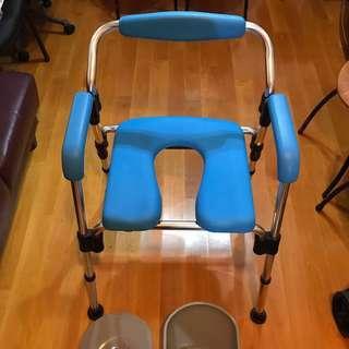 日本MAKI多功能可摺疊便浴椅 便椅