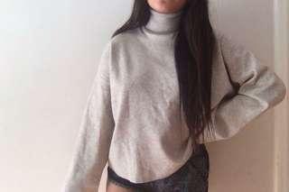 Bell sleeve Turtleneck Sweater